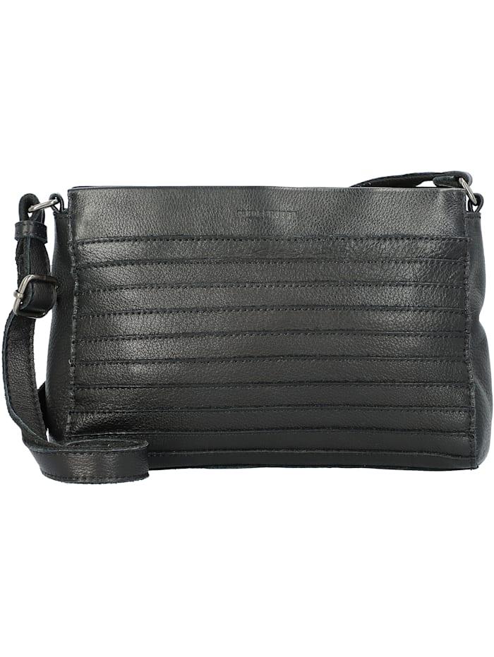 fredsbruder - Goldy Umhängetasche Leder 24 cm  black