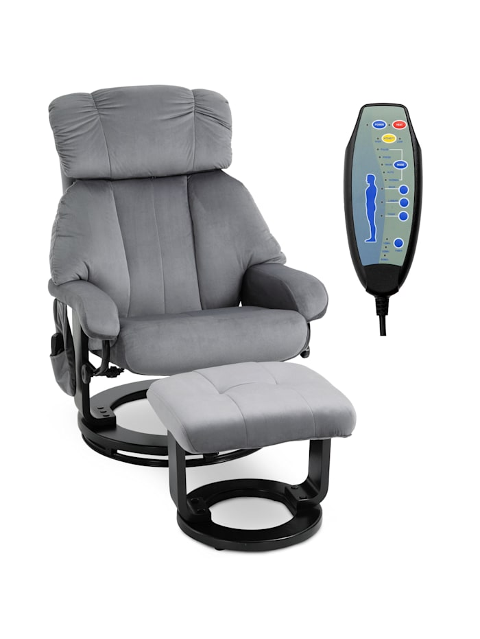 Massagesessel mit Fußhocker HOMCOM grau