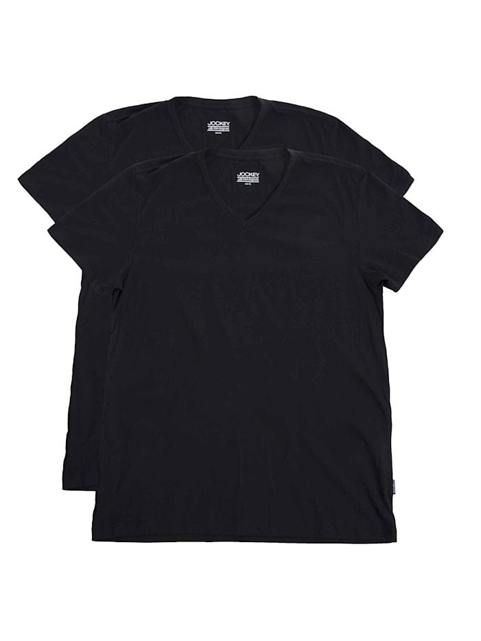 jockey - V-Shirt, 2er-Pack  White