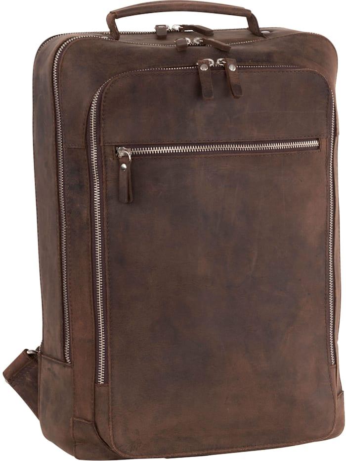 leonhard heyden - Salisbury Rucksack Leder 42 cm Laptopfach  braun
