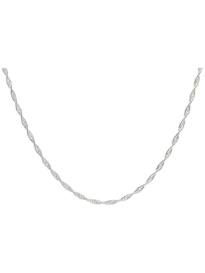 Kette in Kordel-Optik, Weißgold 585 Luigi Merano Silber