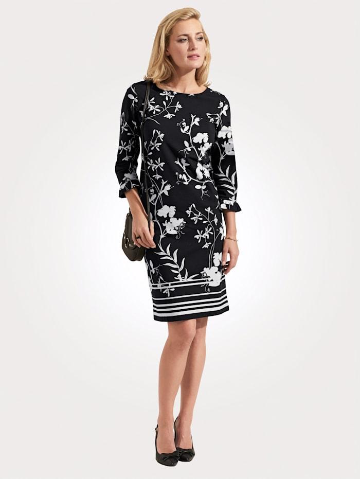 Robe delmod Noir::Blanc