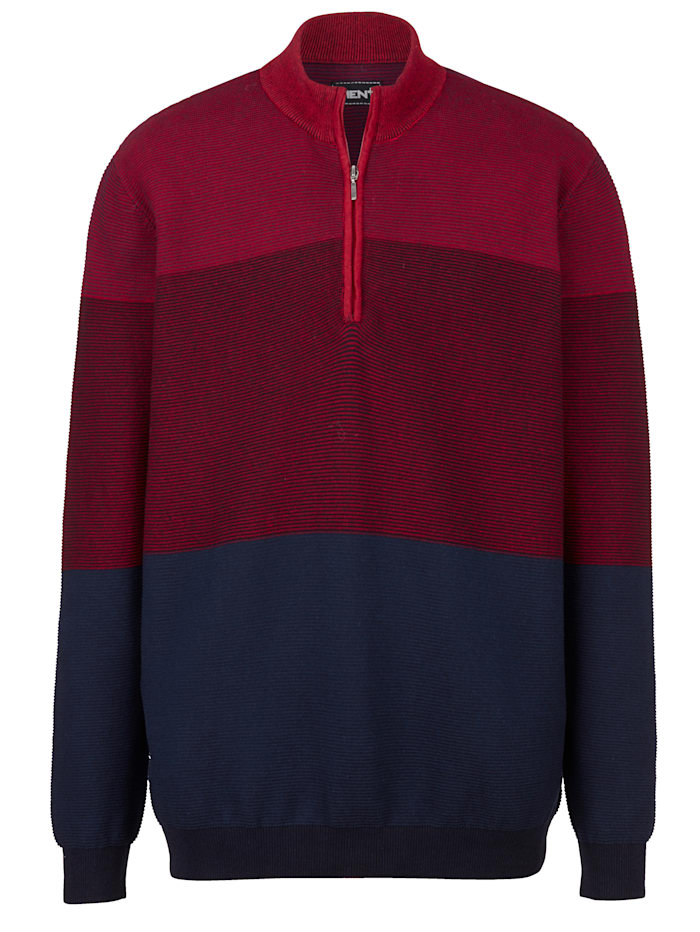 men plus - Pullover  Bordeaux::Marineblau