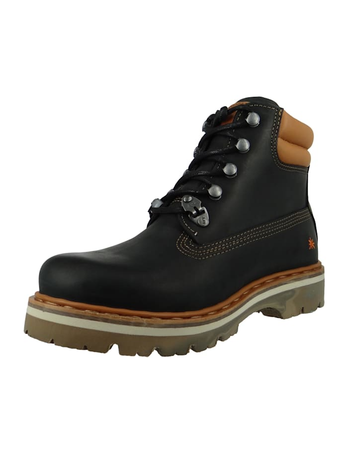 *art - Leder Stiefelette Ankle Boot Soma 1182 Schwarz Black  Black