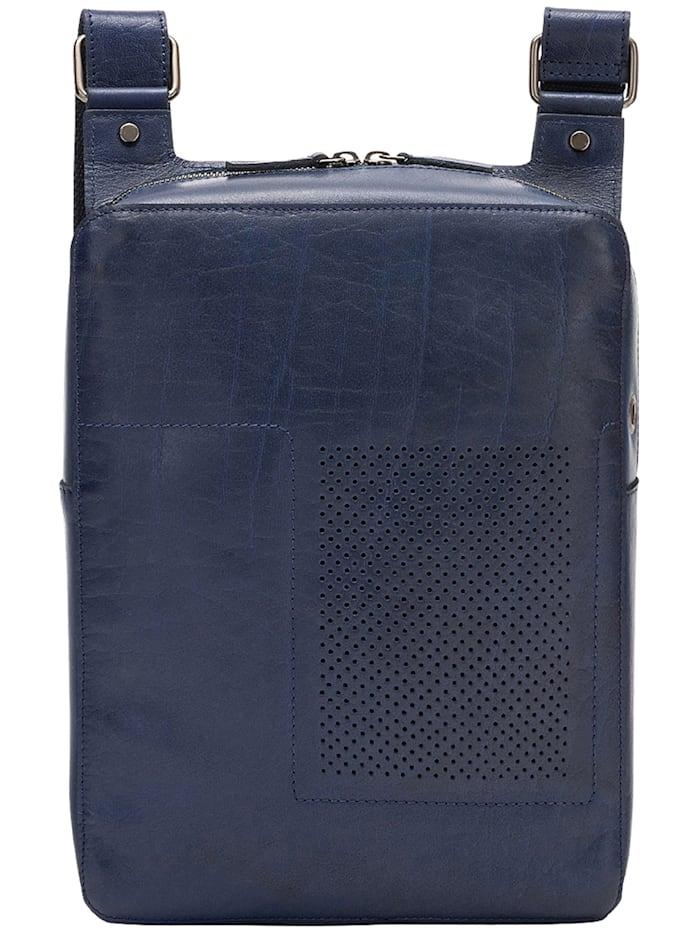 dudu - Umhängetasche Leder 25 cm  blau