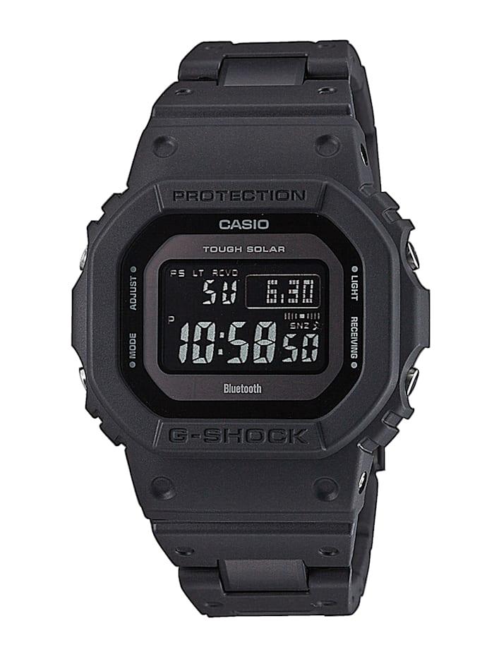 Artikel klicken und genauer betrachten! - Ein idealer Begleiter ist dieser Chronograph von Casio wird Ihrem Handgelenk sicher schmeicheln. Ein überzeugender Allrounder ist dieser Chronograph denn er verfügt über eine Ladekontrollanzeige, eine Weltzeitfunktion, ein LED-Licht und ein Tagesalarm. Hat ein schwarzes Gliederarmband aus Resin mit Sicherheitsschließe. Das rechteckige, schwarze Gehäuse dieser edlen Uhr wurde aus Resin hergestellt. | im Online Shop kaufen