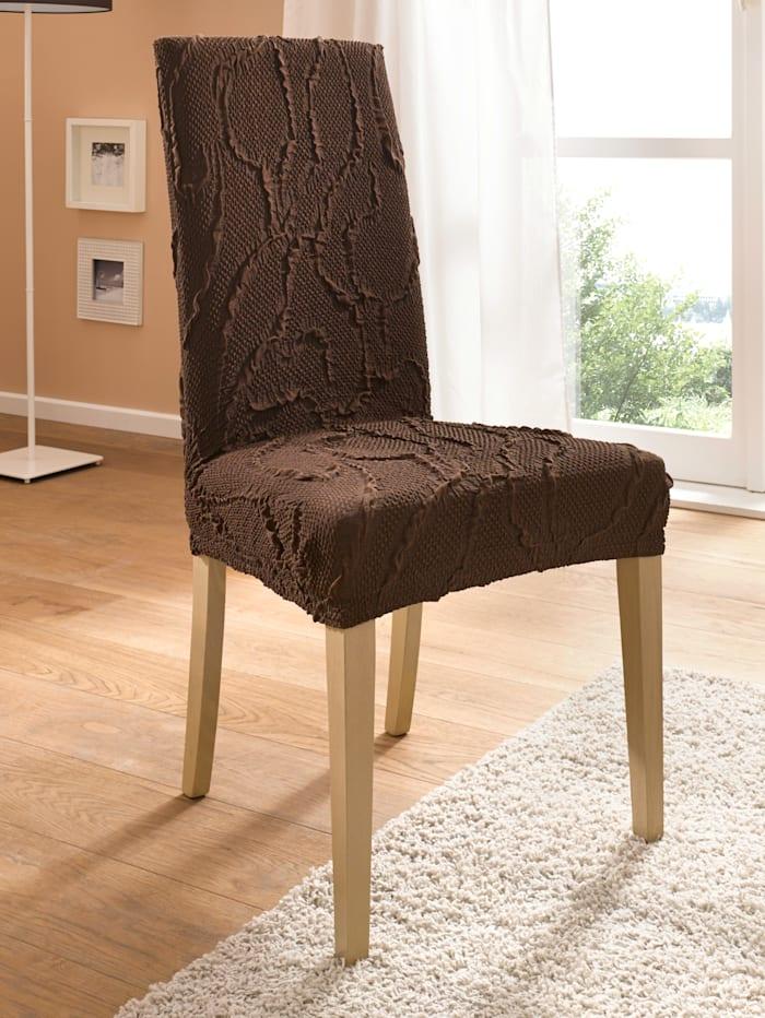 Elastische meubelhoezen Webschatz bruin