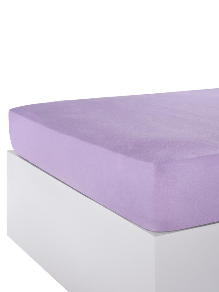 Hoeslaken flanel Webschatz lila