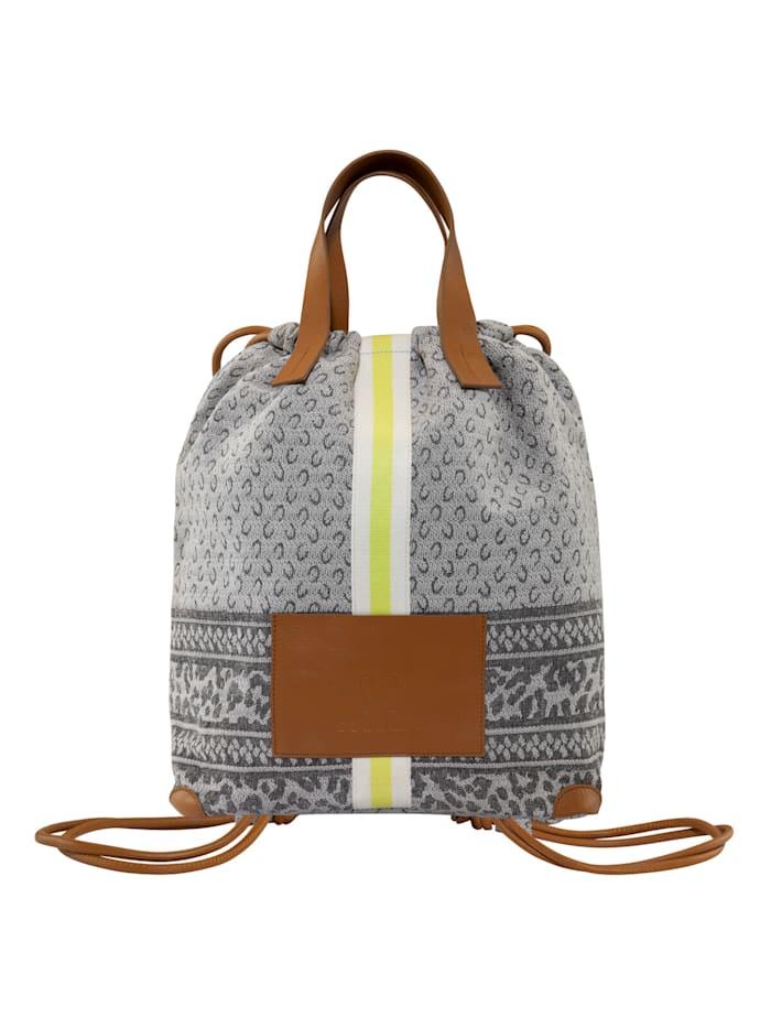 codello - Canvas-Rucksack mit Logo-Print  light grey