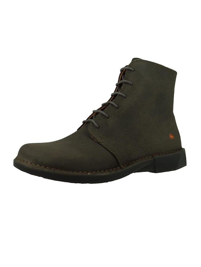 *art - Damen Leder Stiefelette Ankle Boot Bergen Plumb Grau 1096  Plumb