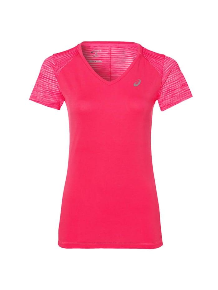 asics -  T-Shirt FUZEX V-NECK SS TOP 8012 DIV  Rose