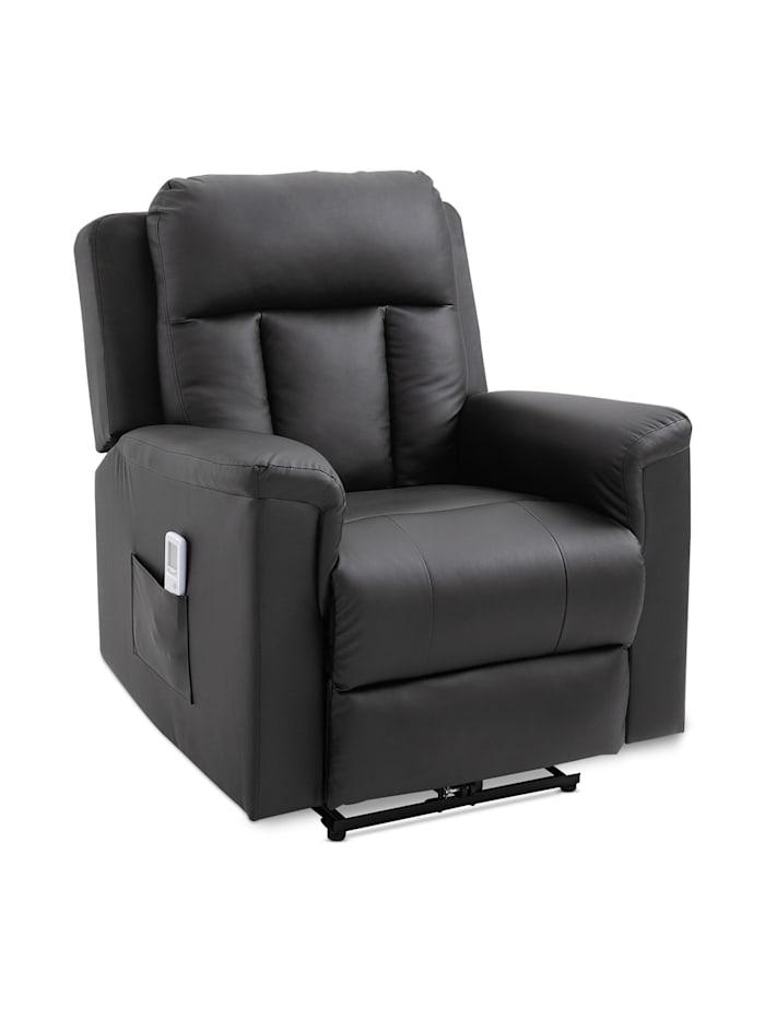 Fernsehsessel mit Massage- und Wärmefunktion HOMCOM schwarz