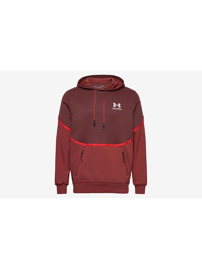 under armour -  Hoodie UA Rival Fleece AMP HD  Rot