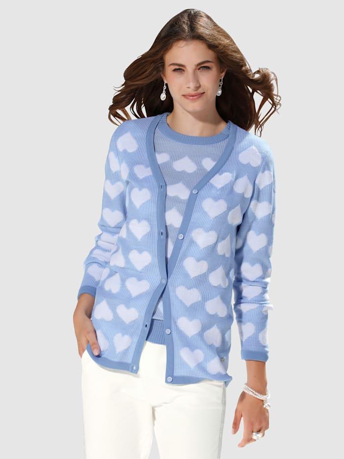 Vest AMY VERMONT Lichtblauw::Wit