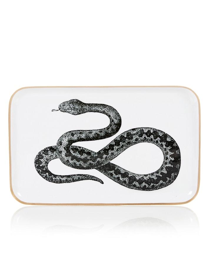 Deko-Tablett, Giftcompany schwarz/weiß