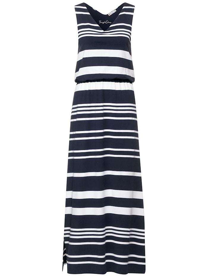street one - Kleid mit Streifen Muster  dark foggy blue