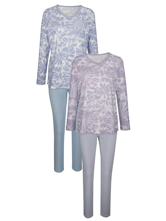 Pyjama Harmony Rookblauw::Lila