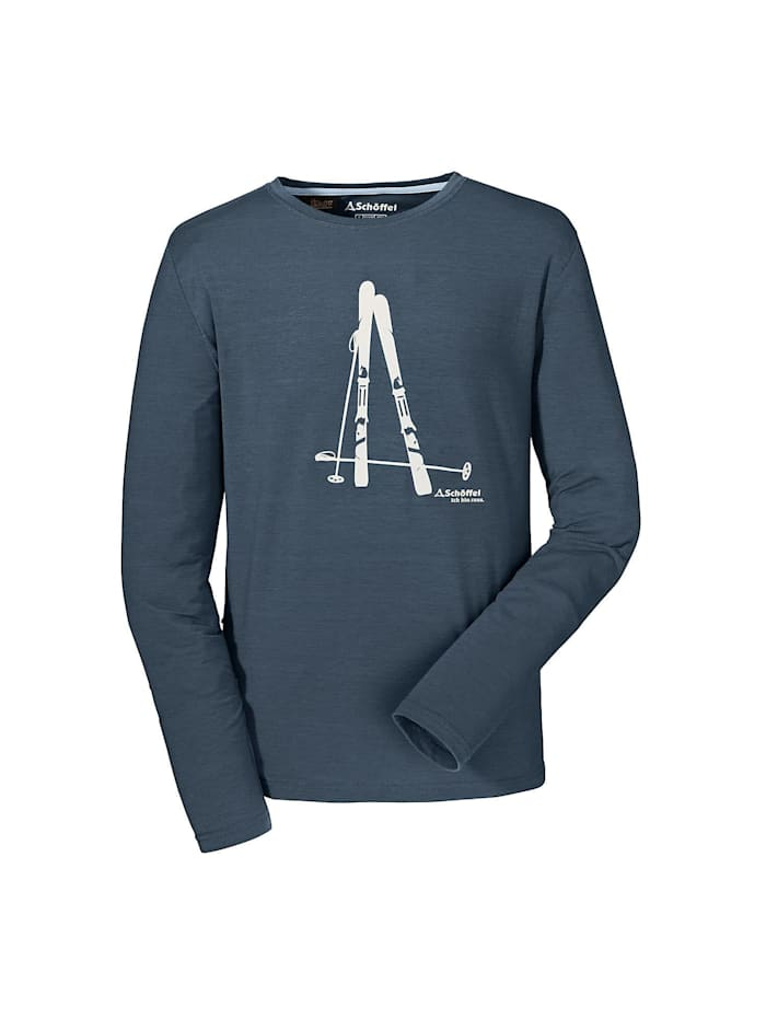 schöffel -  Shirt Longsleeve Seiseralm  Dunkelblau