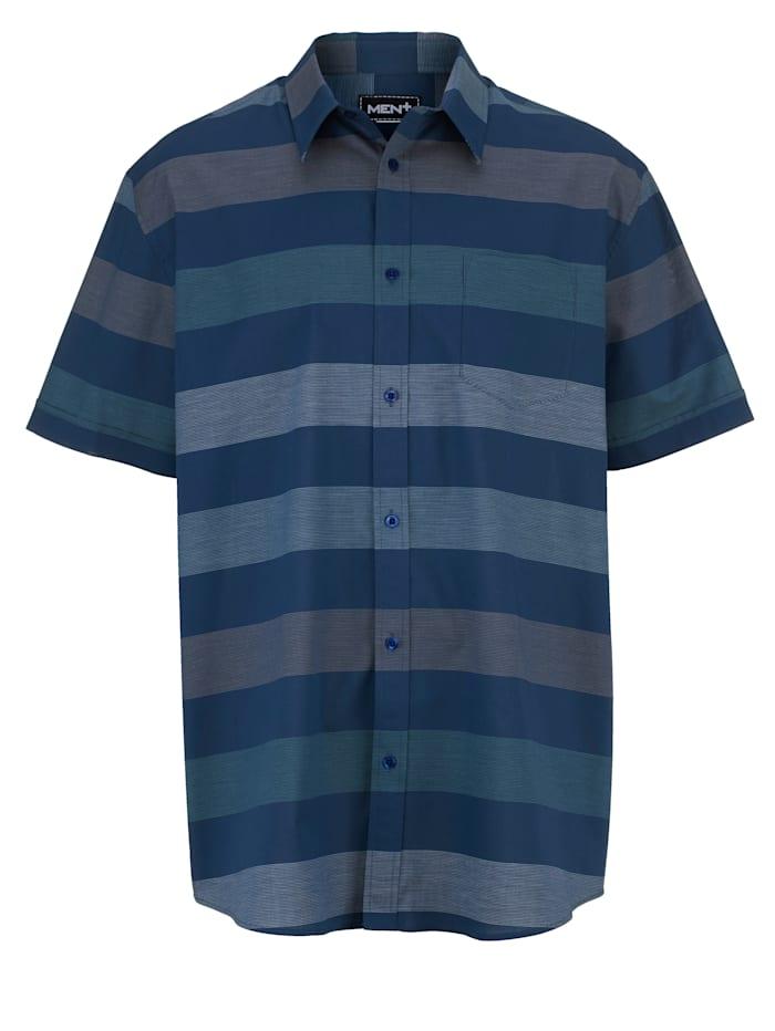 Chemise à manches courtes Men Plus Bleu foncé::Vert::Blanc