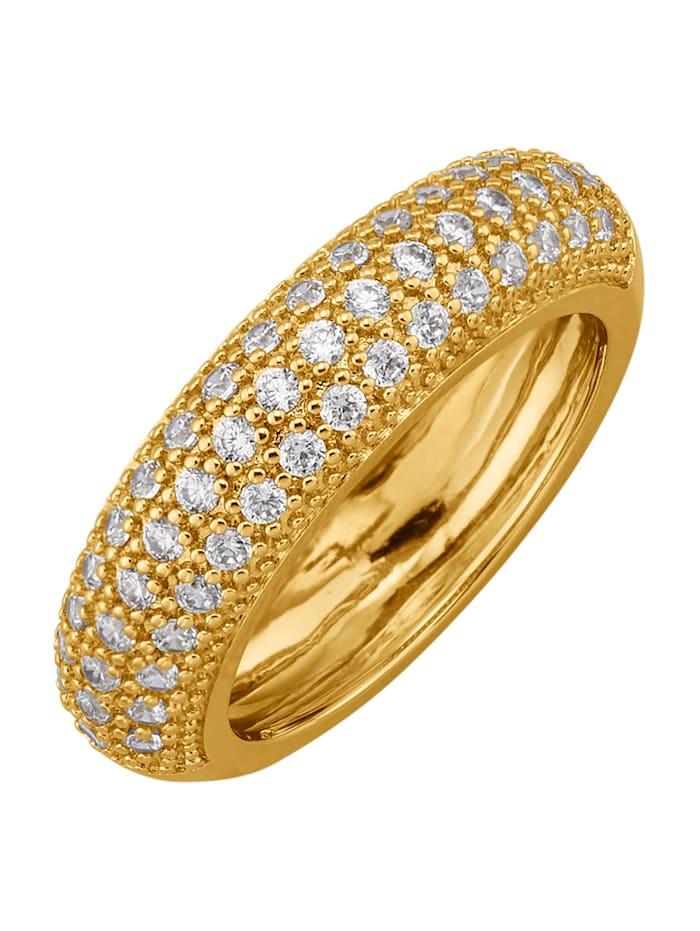 Image of Damenring vergoldet Golden Style Gelbgoldfarben