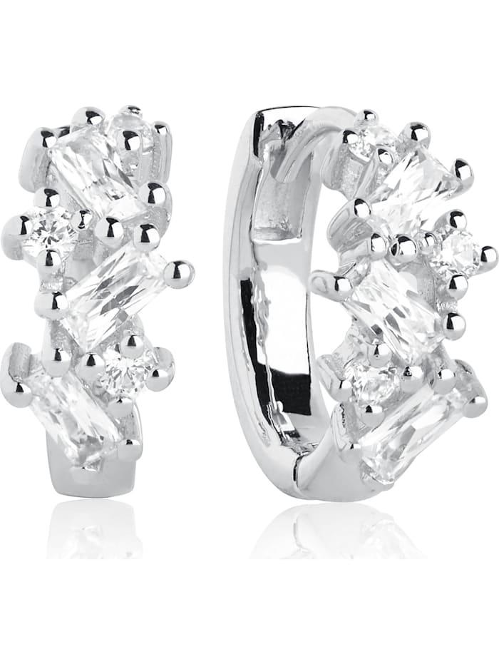 Sif Jakobs Jewellery Damen-Creole Antella Creolo Piccolo 925er Silber Zirkonia Sif Jakobs silber