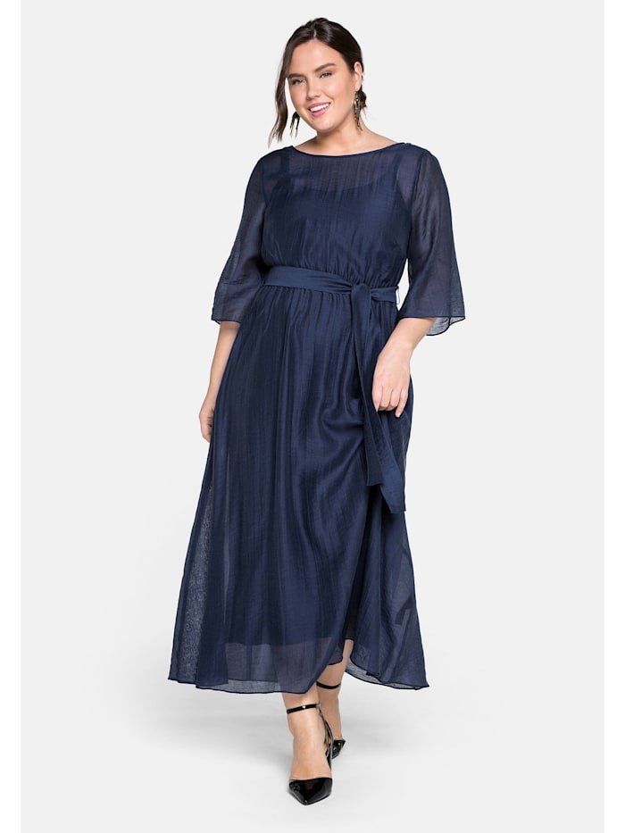 sheego -  Abendkleid  dunkelblau