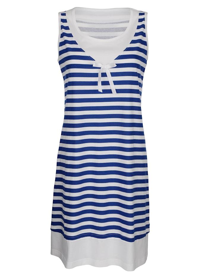 Strandkleid Maritim Weiß::Marineblau