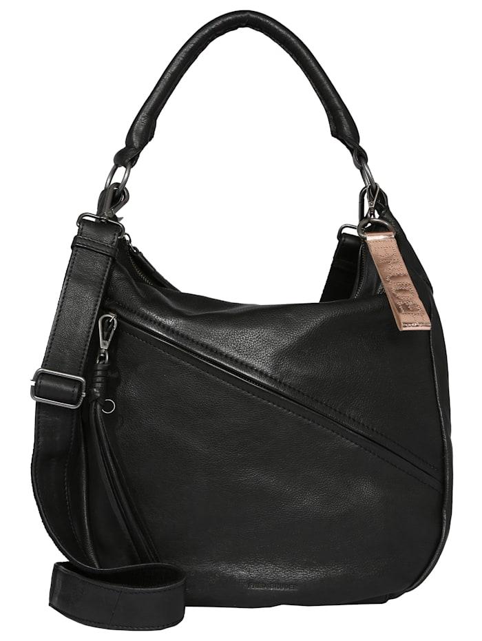 fredsbruder - Hobo Bag Juno  schwarz