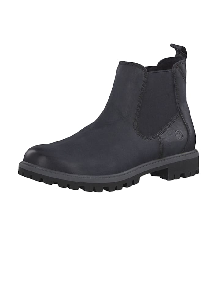 tamaris - 1-25401-23 805 Damen Stiefelette Chelsea Boots Navy Dunkelblau mit TOUCH-IT Sohle  Navy