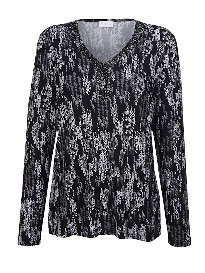 Shirt MONA Zwart::Wit