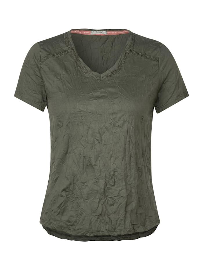 cecil - T-Shirt mit Crash-Effekt  simply khaki