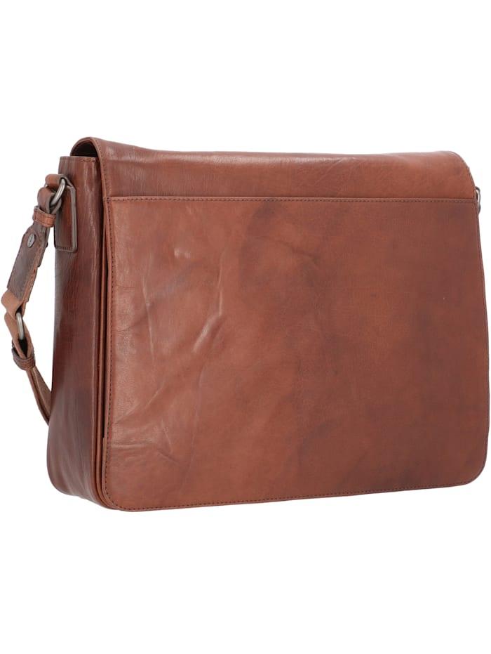 leonhard heyden - Austin Messenger Leder 38 cm Laptopfach  braun