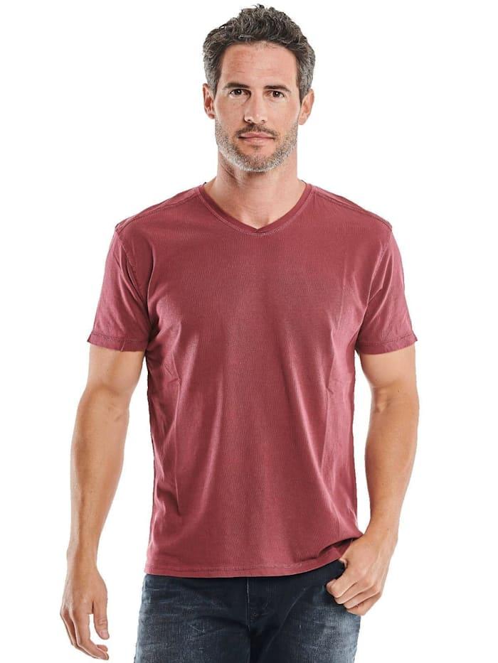 engbers - V-Neck T-Shirt  Weinrot