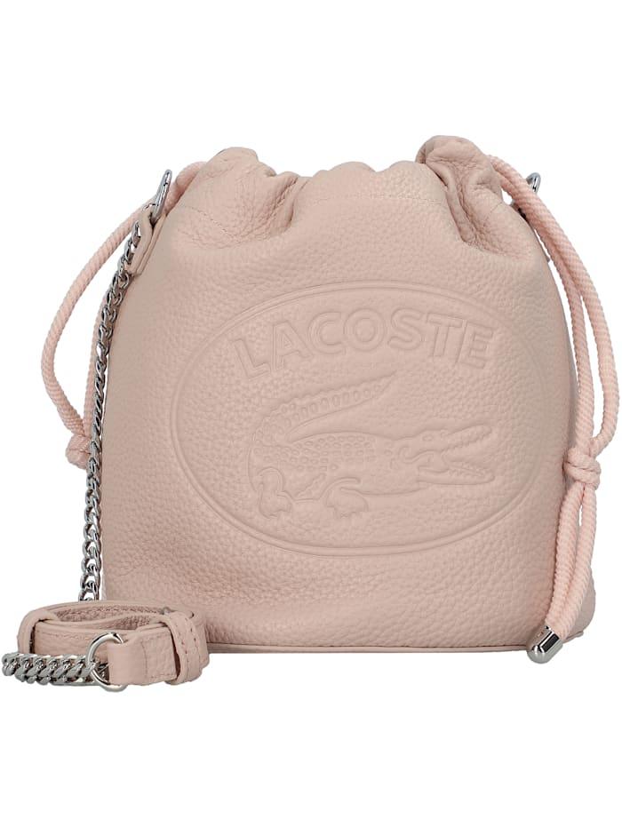 lacoste - Croco Crew Beuteltasche Leder 17 cm  rose dust