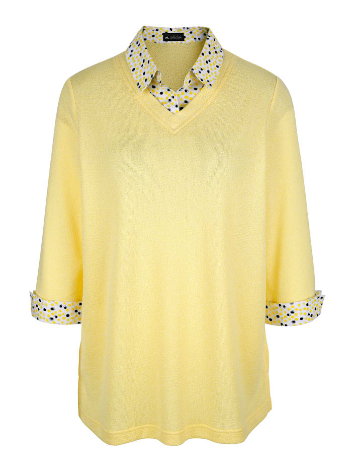 2 in 1 Shirt m. collection Vanille