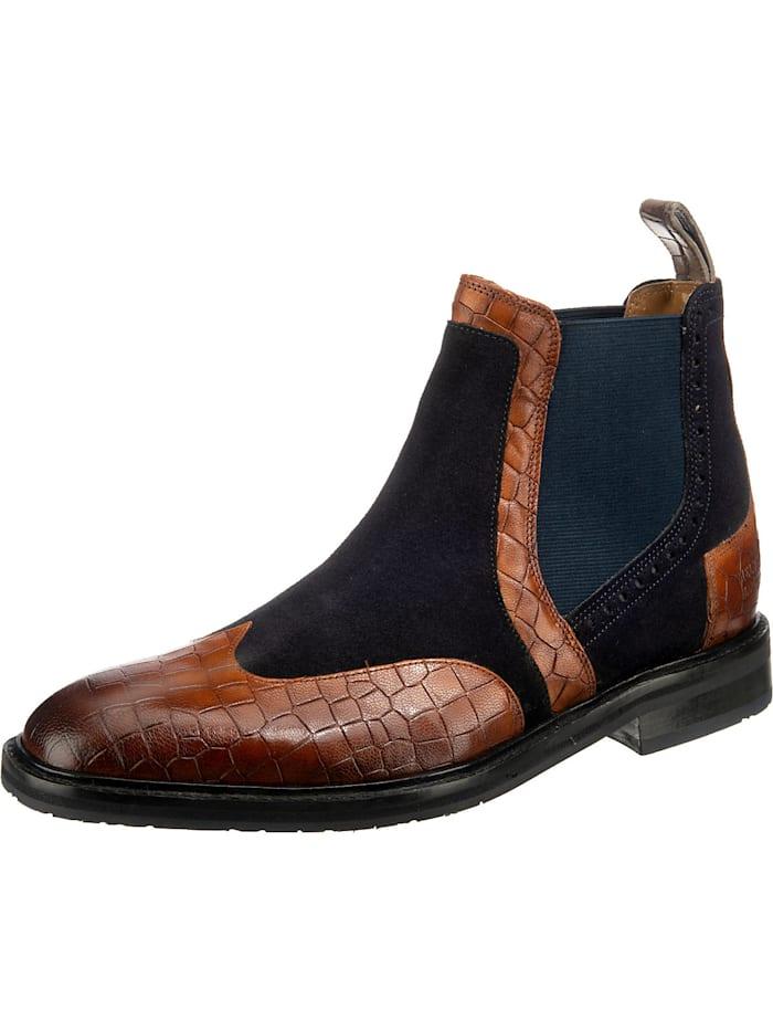 melvin & hamilton - Logan 2 Chelsea Boots  blau/braun