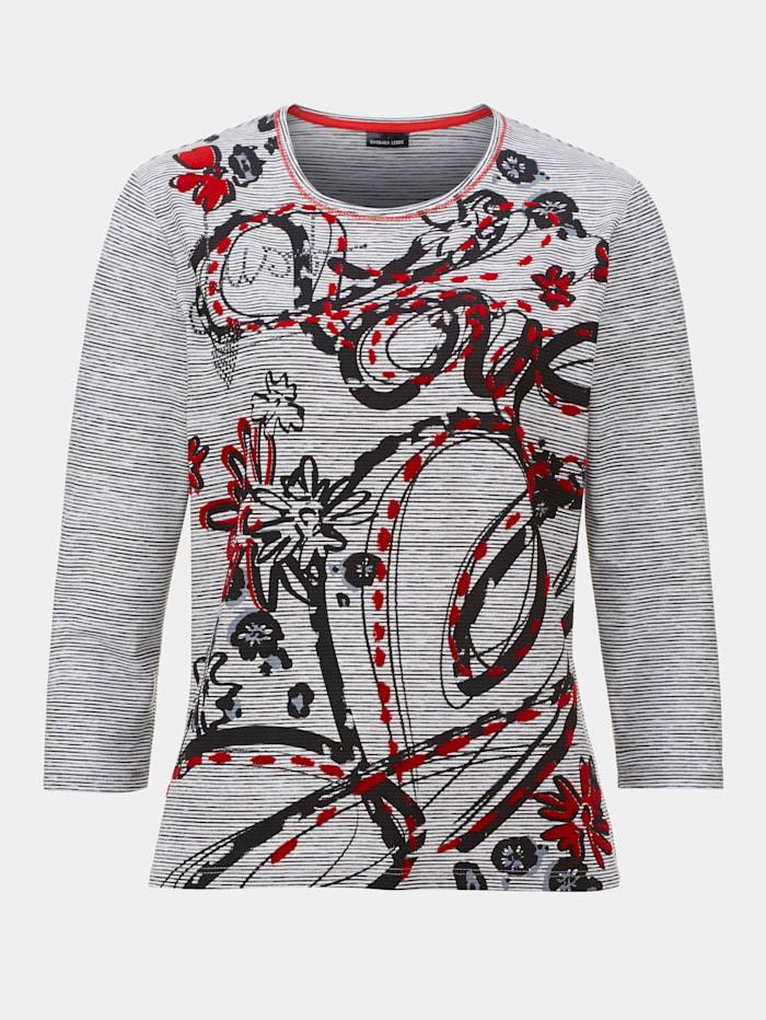 Shirt Barbara Lebek Zwart::Wit::Rood