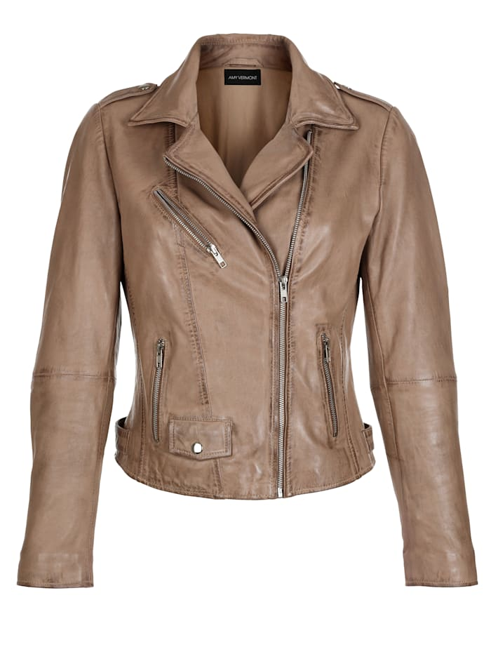 Lederjacke, Amy Vermont taupe Empfehlung Tipp 1596