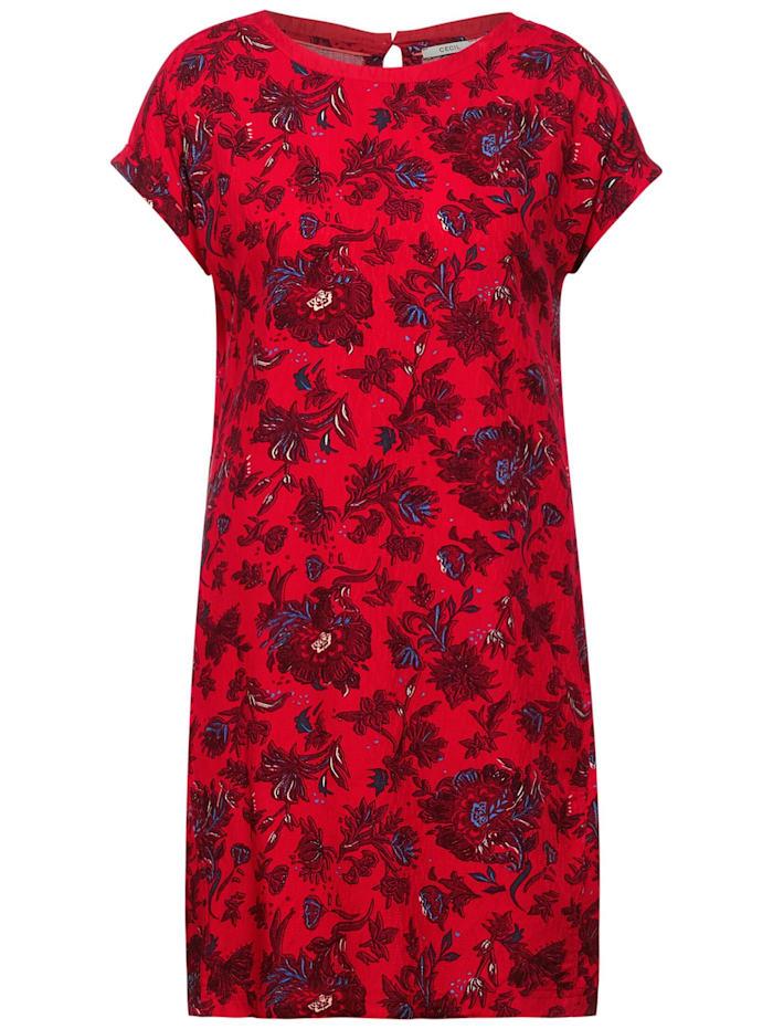 cecil - Kleid mit Blumen Print  poppy red