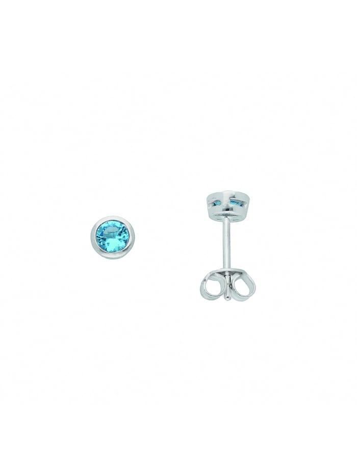 1001 diamonds - Damen Silberschmuck 925 Silber Ohrringe / Ohrstecker mit Zirkonia Ø 5 mm  bunt