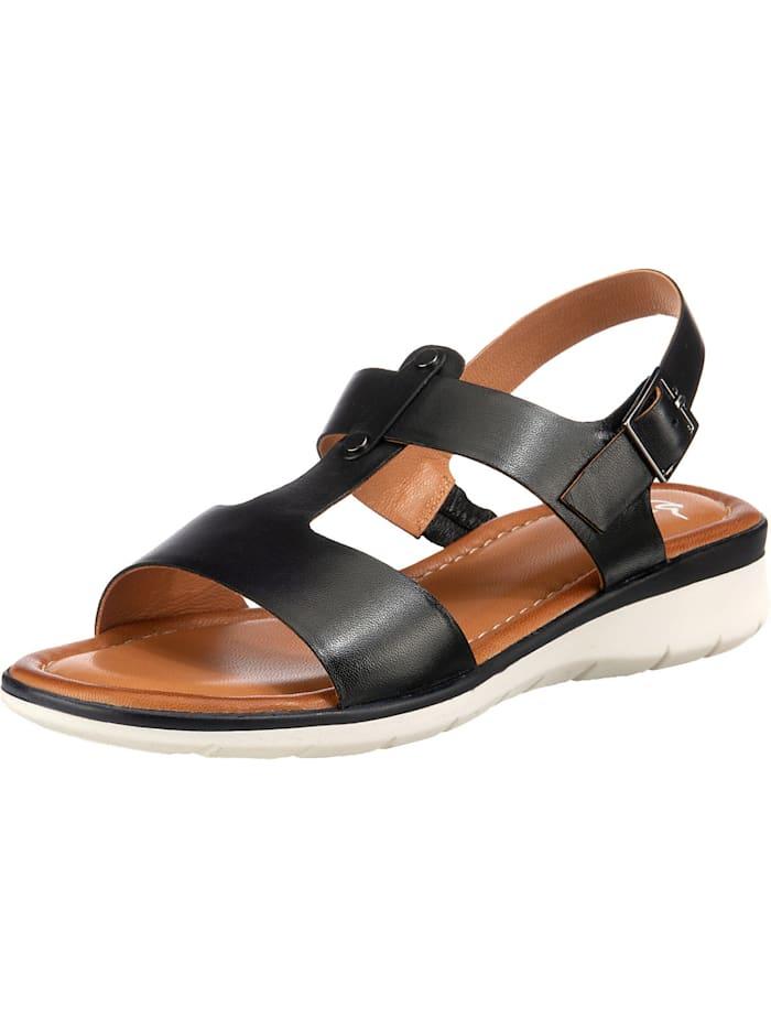 ara - Kreta T-Steg-Sandalen  schwarz