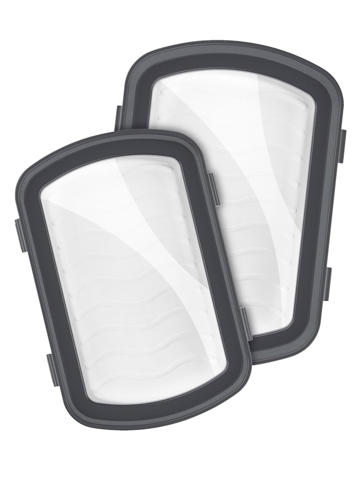 Set van 2 vacuümschalen Klick-It MAXXMEE wit/grijs/transparant