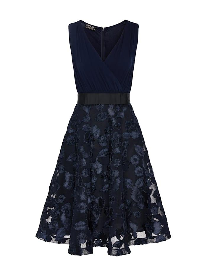 apart - Cocktailkleid mit Schleife vorne an der Taille  nachtblau