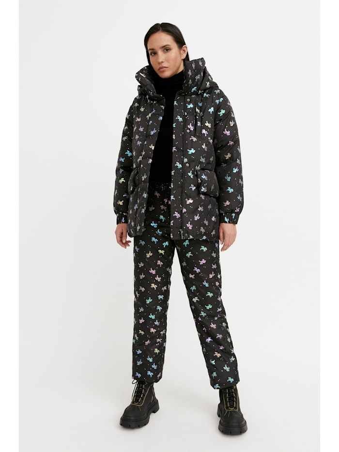 finn flare - Jacke mit farbigem Allover-Druck  black