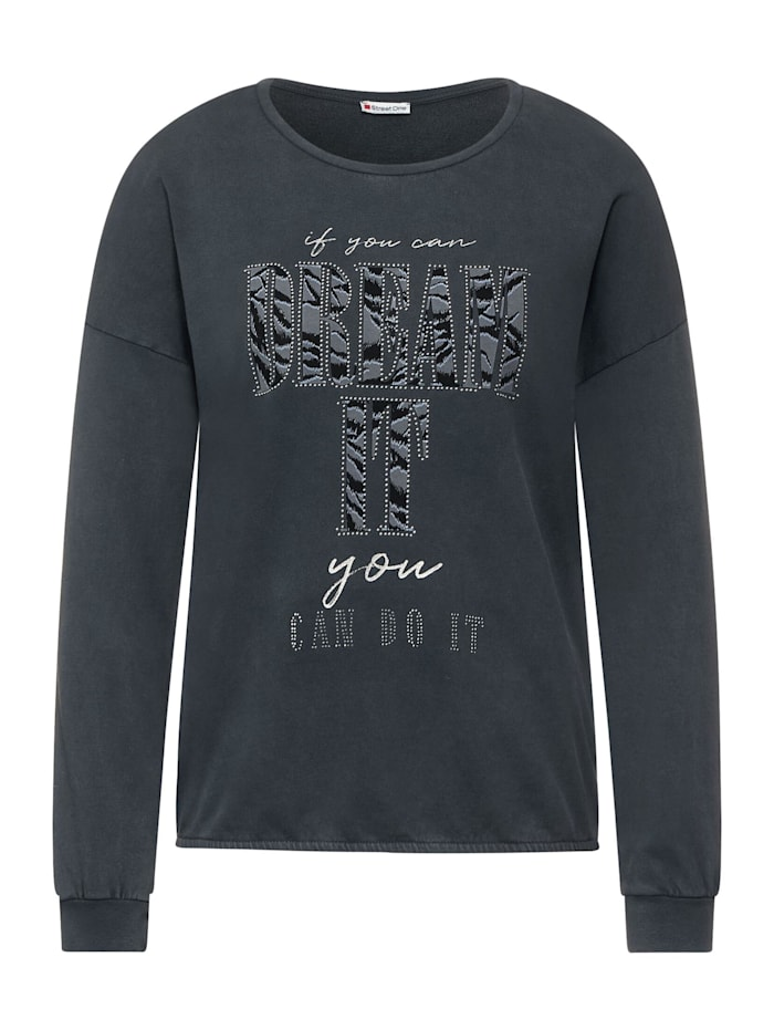 street one - Shirt mit Partprint  carbon grey
