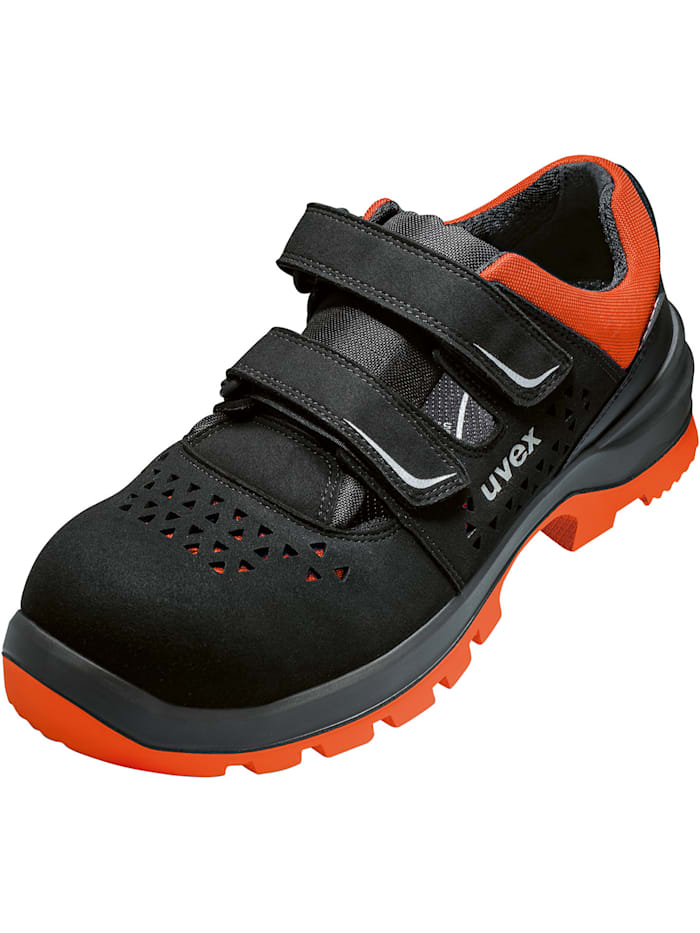 uvex - Sicherheitsschuhe  2 xenova® Sandale S1P SRC  schwarz/rot