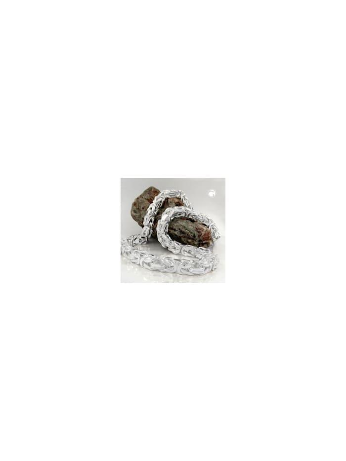 gallay schmuckgroßhandel - Kette ca. 8mm Königskette vierkant glänzend Silber 925 55cm  silber