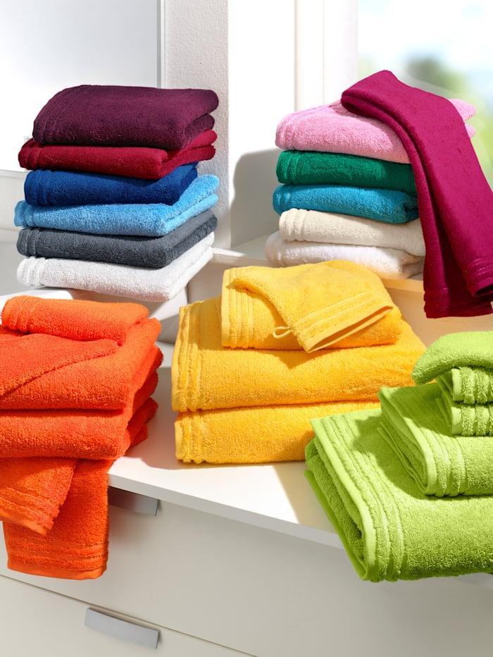 Handdoekenset effen Vossen lichtblauw