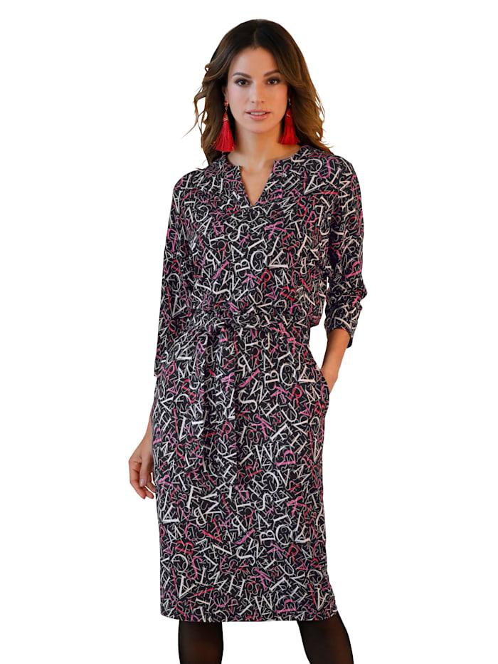 Jersey jurk AMY VERMONT Zwart::Multicolor