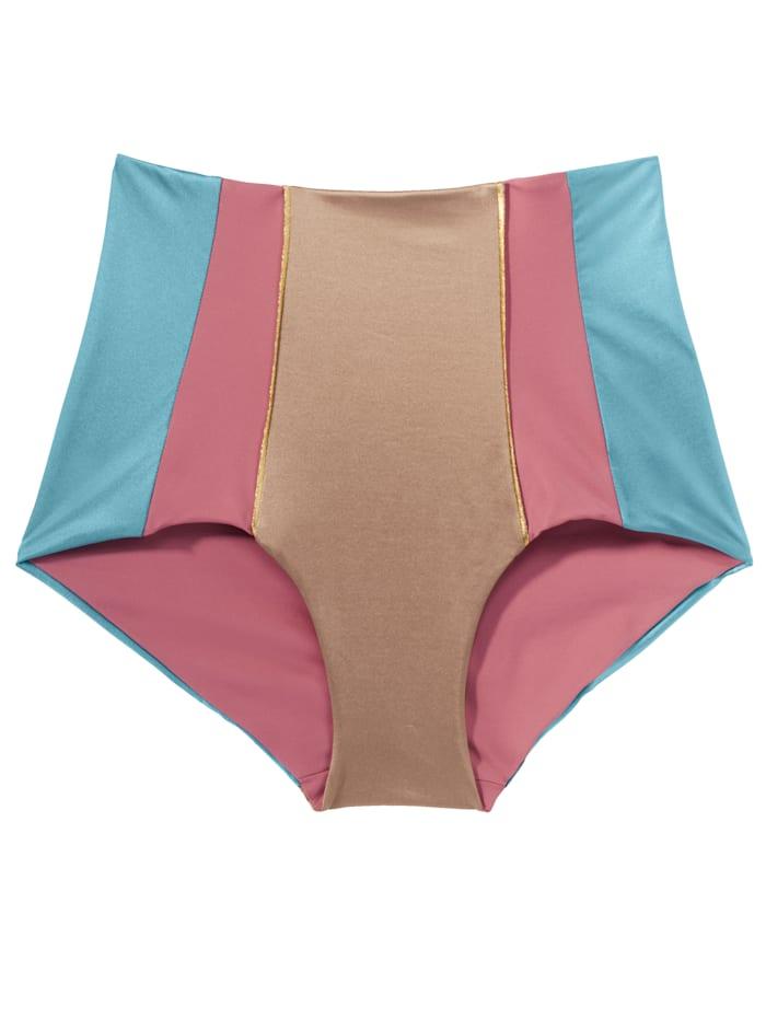Bikinislip, Twin-set gold-blau-pink Post